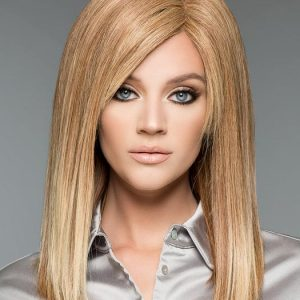 High End Women Long Straight Blonde Human Hair Wig Hand-tied