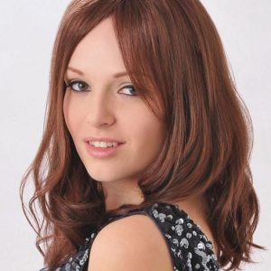 Top Quality Women Long Straight Monofilament Human Hair Wig Mono Top