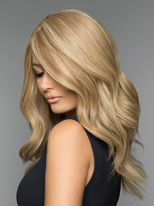 Top Quality Women Long Straight Blonde Human Hair Wig Mono Top