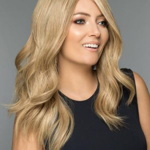 Top Quality Women Long Straight Blonde Human Hair Wig Mono Top