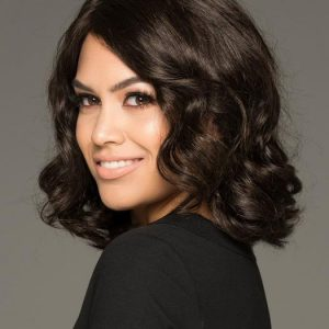 Fashion Women Wavy Monofilament Synthetic Lace Front Wig Mono Top By Rooted