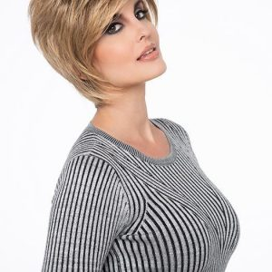 Fashion Women Short Straight Monofilament Synthetic Lace Front Wig By Rooted
