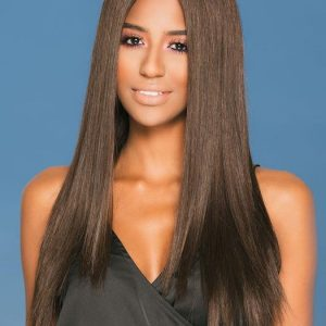 Fashion Women Long Straight Monofilament Remy Human Hair Lace Front Wig