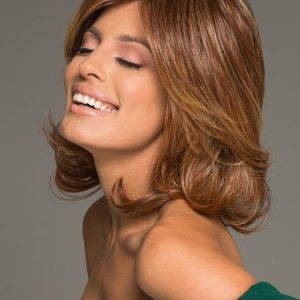 Cheap Women Straight Mid-length Hf Synthetic Wig Basic Cap By Rooted