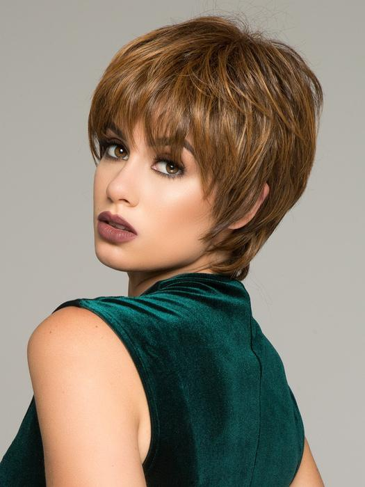 Cheap Women Short Straight Hf Short Synthetic Wig Basic Cap By Rooted
