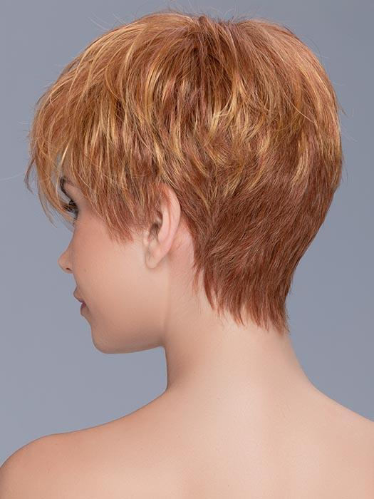 Cheap Women Blonde Short Straight Synthetic Wig Mono Crown By Rooted