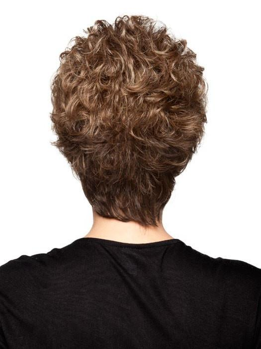 Fashion Women Short Wavy Synthetic Wig Basic Cap