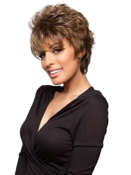 Fashion Women Short Wavy Synthetic Wig Basic Cap