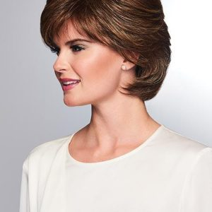 High End Women Blonde Short Straight Hf Synthetic Wig Basic Cap By Rooted