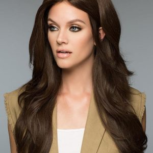 High End Women Wavy Long Monofilament Human Hair Lace Front Wig Mono Top