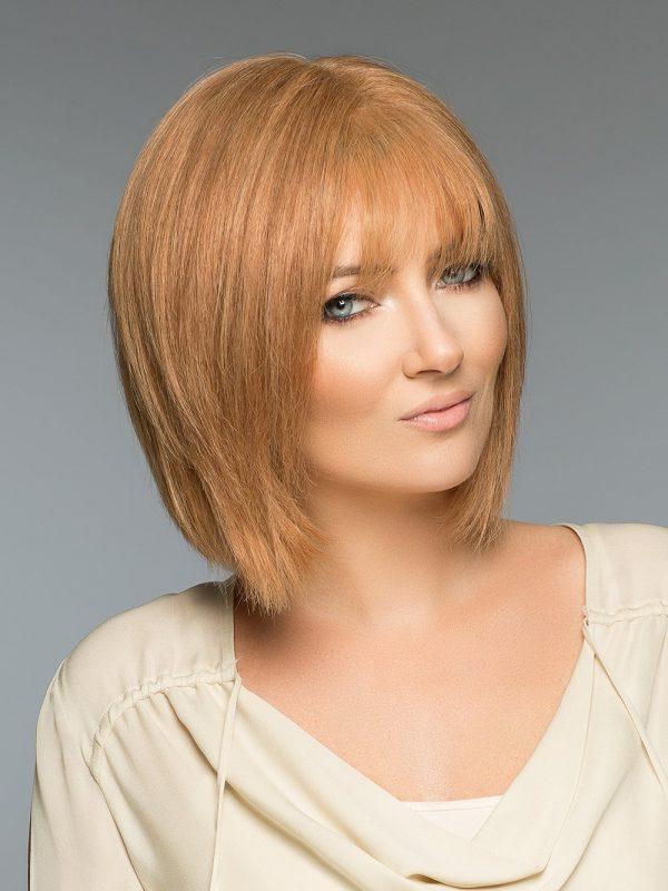 Fashion Women Straight Mid-length Monofilament Human Hair Wig Mono Top