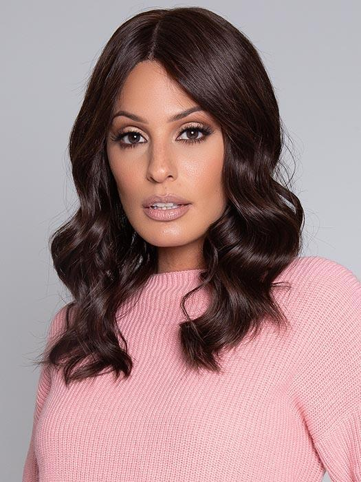 High End Women Long Straight Remy Human Hair Wig Double Mono By Rooted