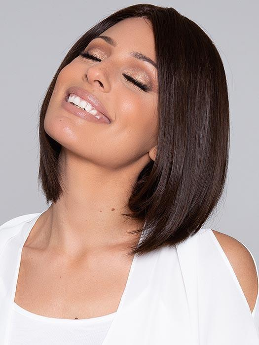 Fashion Women Short Straight Monofilament Human Hair Lace Front Wig By Rooted