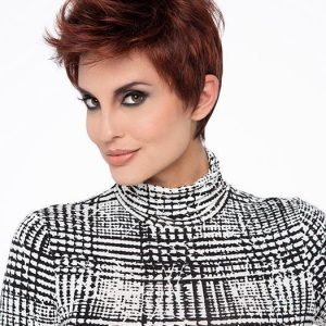 High End Women Short Straight Synthetic Lace Front Wig Basic Cap By Rooted