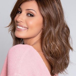 High End Women Mid-length Wavy Hf Synthetic Lace Front Wig By Rooted