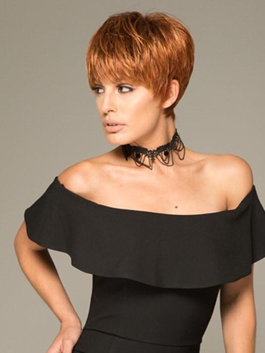 Fashion Women Short Straight Blonde Pixie Synthetic Wig Basic Cap By Rooted