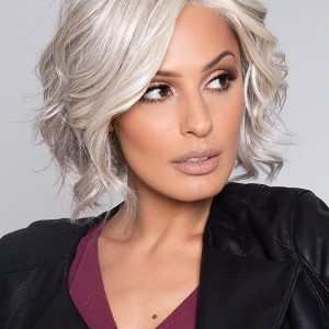 High End Women Short Straight Monofilament Human Hair Lace Front Wig Mono Top