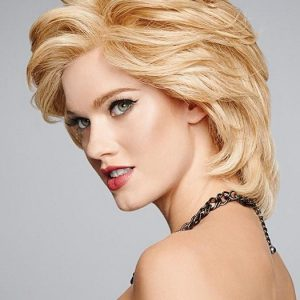 Top Quality Women Short Straight Monofilament Human Hair Lace Front Wig