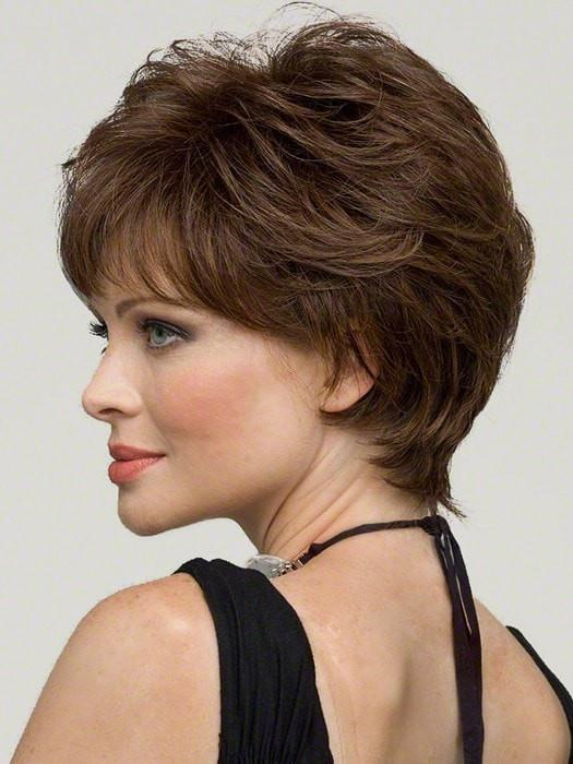 Fashion Women Short Straight Monofilament Human Hair Synthetic Wig