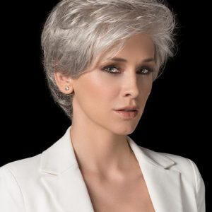 High End Women Short Wavy Monofilament Synthetic Lace Front Wig By Rooted