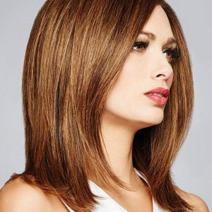 Top Quality Women Long Straight Monofilament Human Hair Lace Front Wig