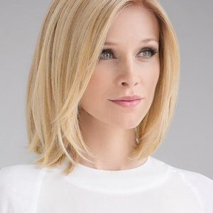 Fashion Women Straight Human/Synthetic Hair Blend Lace Front Wig