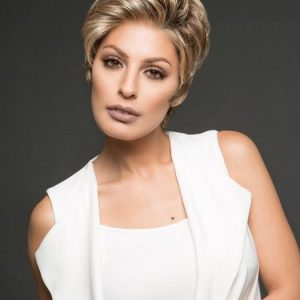 Fashion Women Short Straight Monofilament Pixie Synthetic Lace Front Wig