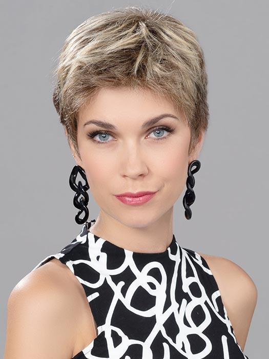 Cheap Women Short Straight Human/Synthetic Hair Blend Lace Front Wig