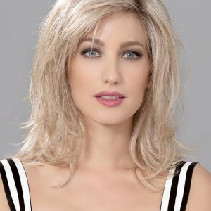 Cheap Women Straight Human/Synthetic Hair Blend Lace Front Wig By Rooted