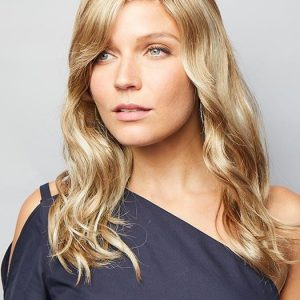 Top Quality Women Wavy Synthetic Lace Front Wig Mono Part By Rooted