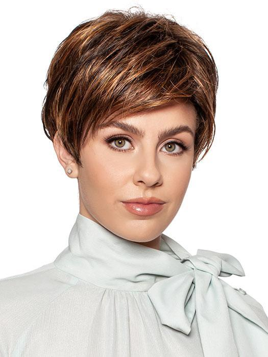 Cheap Women Short Blonde Synthetic Wig By Rooted
