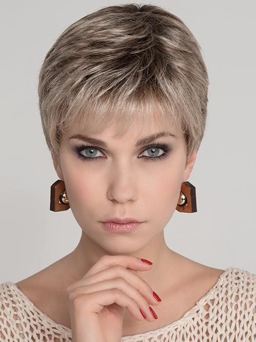 Cheap Women Short Straight Blonde Synthetic Wig Mono Top By Rooted