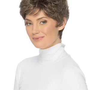 Cheap Women Short Straight Brunette Synthetic Wig Basic Cap