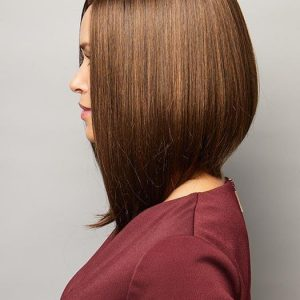 High End Women Short Straight Synthetic Lace Front Wig By Rooted
