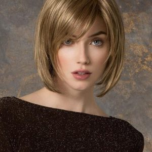 Top Quality Women Straight Mid-length Synthetic Lace Front Wig Hand-tied