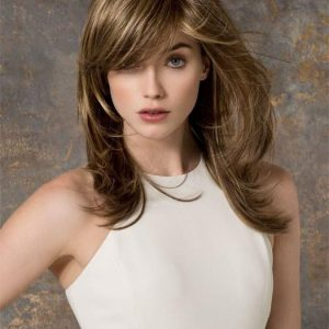 Cheap Women Long Straight Long Synthetic Wig Mono Crown By Rooted