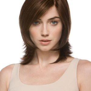 Fashion Women Mid-length Straight Synthetic Lace Front Wig By Rooted
