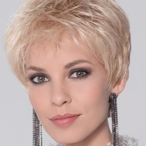 Fashion Women Short Straight Blonde Synthetic Lace Front Wig By Rooted