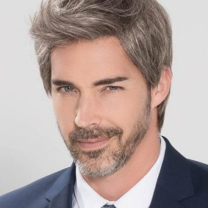Cheap Men Short Straight Monofilament Synthetic Lace Front Wig Hand-tied