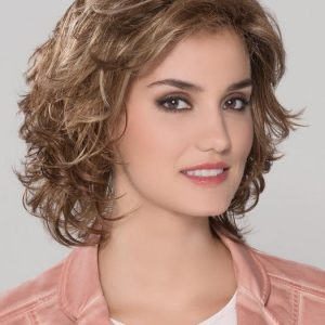 Cheap Women Short Wavy Synthetic Lace Front Wig Mono Crown By Rooted