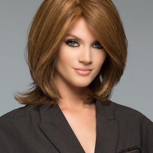High End Women Short Straight Lace Front Remy Human Hair Wig Hand-tied