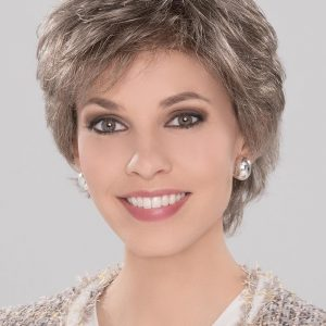Fashion Women Short Wavy Synthetic Lace Front Wig Mono Crown By Rooted