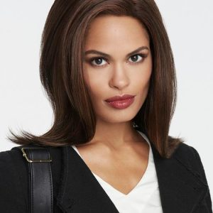 Fashion Women Straight Monofilament Synthetic Lace Front Wig By Rooted