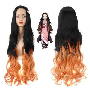 Popular Women Long Wavy Human Hair Bacic Cap Synthetic Wig