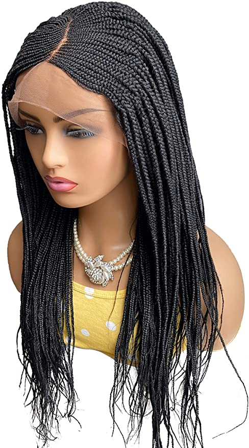 Fashion Women Long Braid Synthetic Human Hair Wig Bacic Cap Average Wig