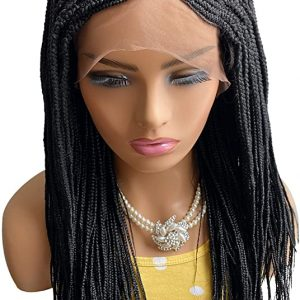 Fashion Women Long Braid Synthetic Human Hair Wig Bacic Cap Average Wig