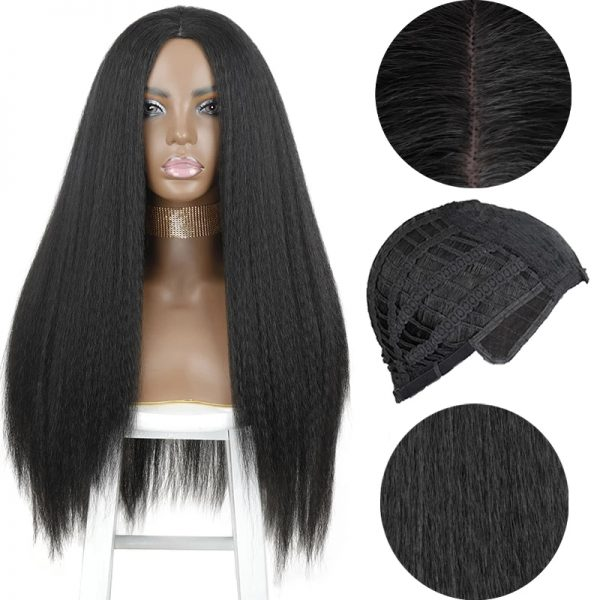 Hot Sale Women Long Straight Synthetic Bacic Cap Wig