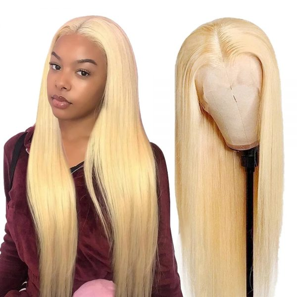 New Women Long Straight Human Hair Lace Front Synthetic Basic Cap Wig