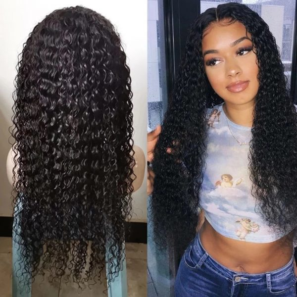 New Women Long Curly Lace Front Human Hair Bacic Cap Synthetic Wig