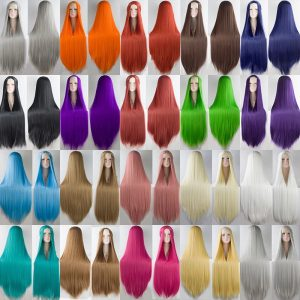 Fashion Cosplay Long Straight Black Synthetic Bacic Cap Wig